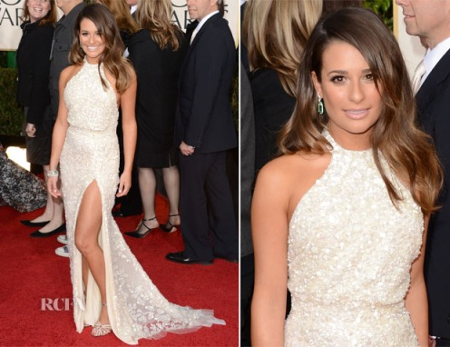 Lea-Michele-In-Elie-Saab-2013-Golden-Globes-Awards